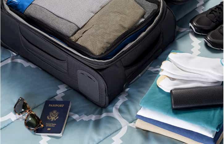 como organizar una maleta de viaje