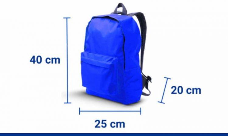 mochilas de viaje 40 x 20 x 25 ryanair